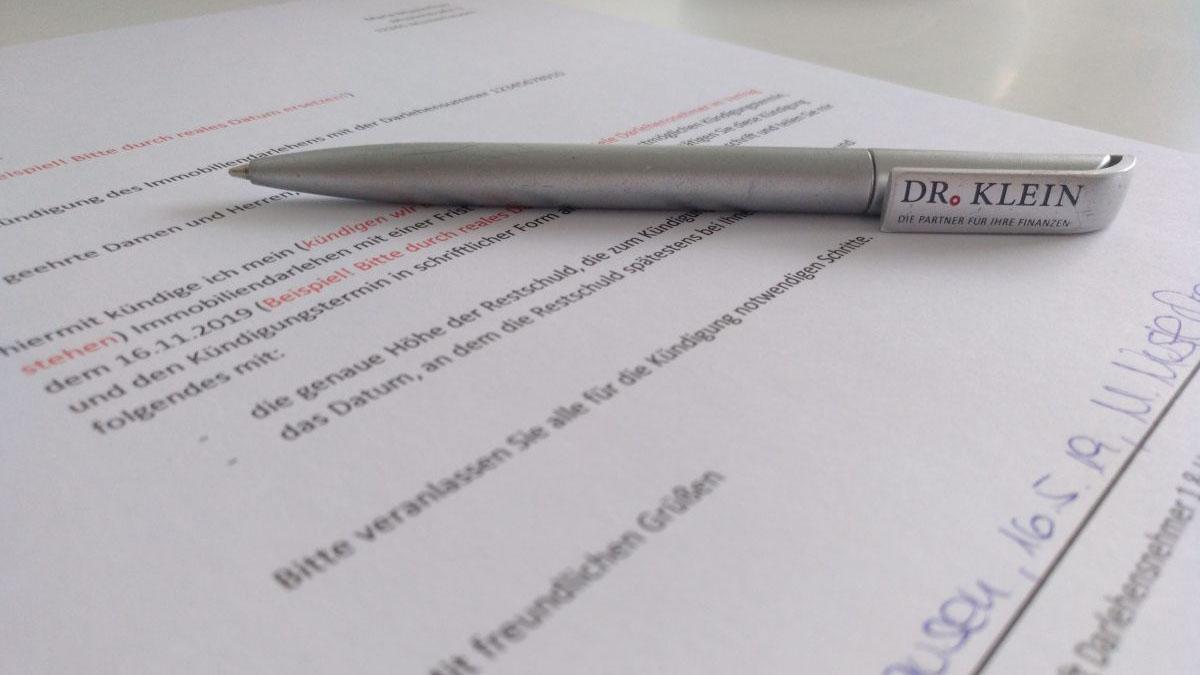 Kündigung Immobiliendarlehen nach 10 Jahren: Muster und Anleitung