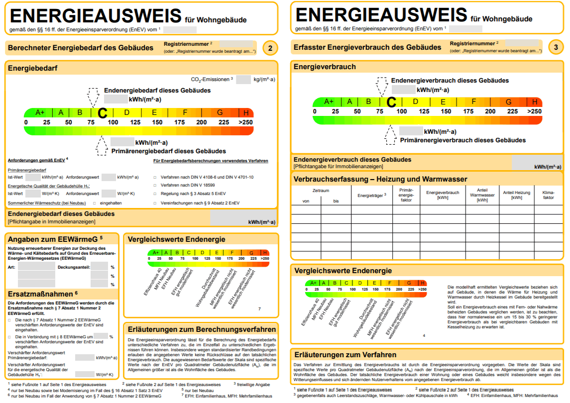 Energieausweis Muster Beispiel Energiepass Muster 2