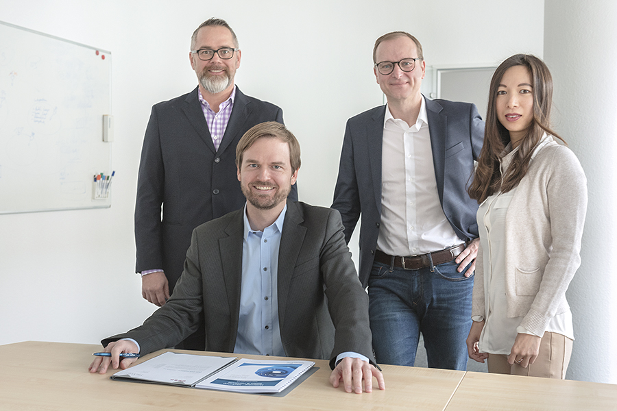 Dr. Klein Vorstand (v.l.n.r. Reinhard Straub, Michael Neumann, Stephan Gawarecki, Kingyi Yu)